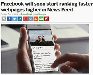 facebook will soon start ranking faster webpages higher in news feed