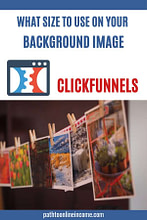 what size to use on your background image in clickfunnels