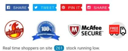 Trust badges from Ecom Turbo