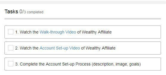 Wealthy Affiliate Task Complete