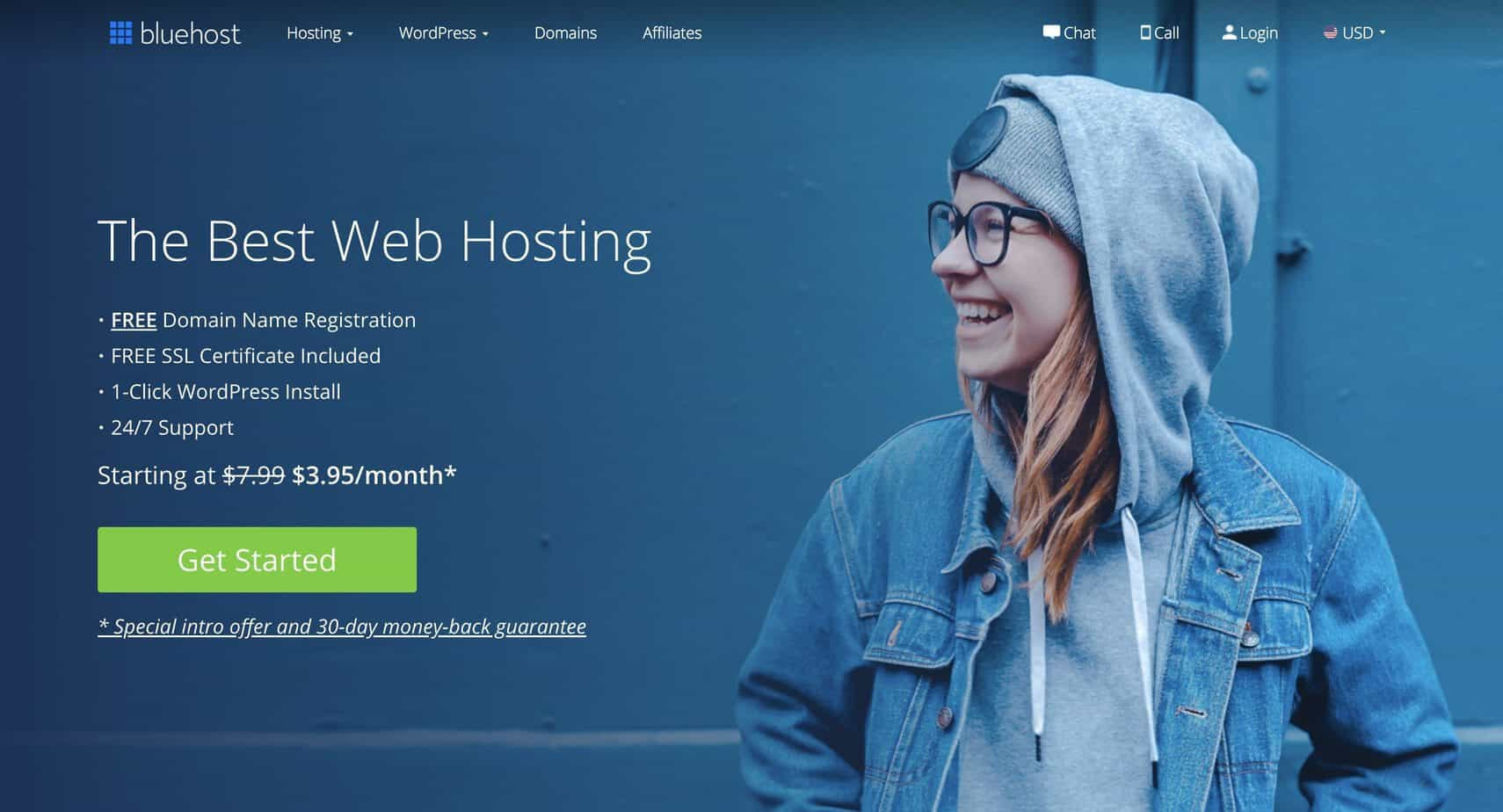 1 Homepage Bluehost
