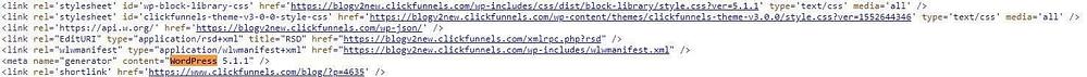 ClickFunnels use wordpress for blogging