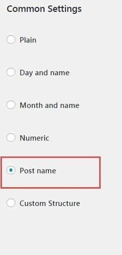 wp link settings