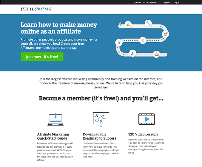 affilorama homepage